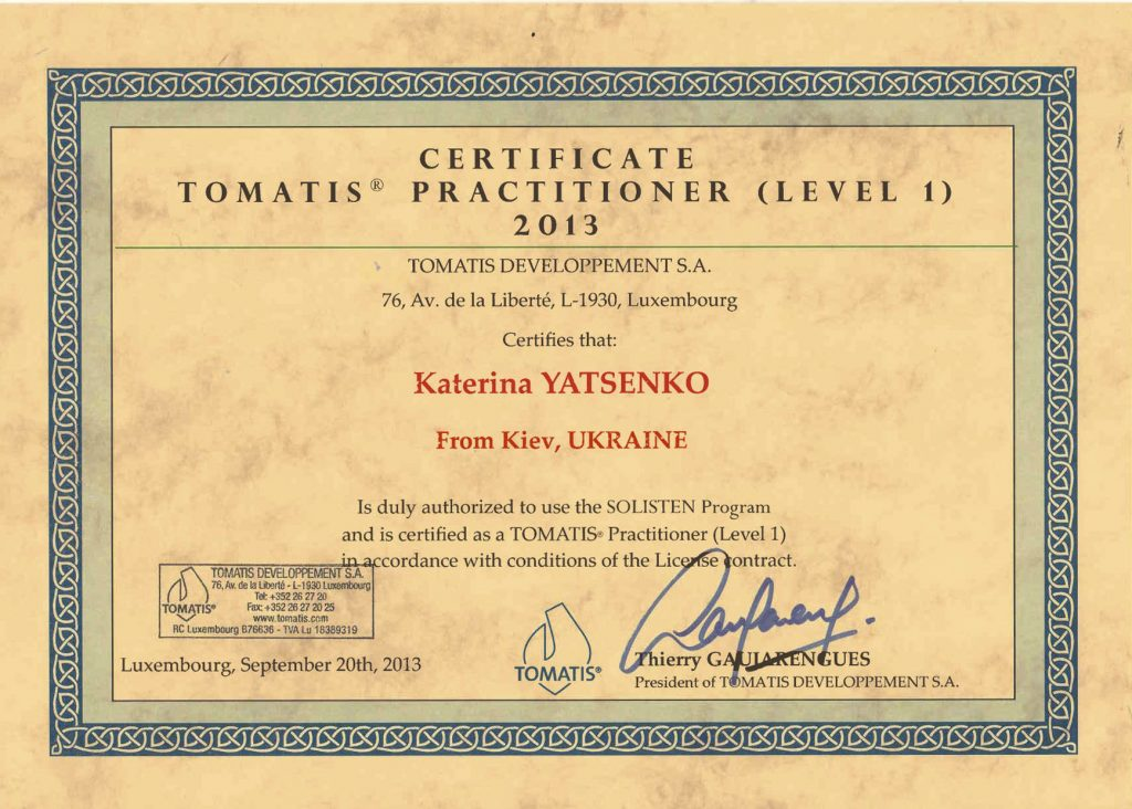 The Tomatis method