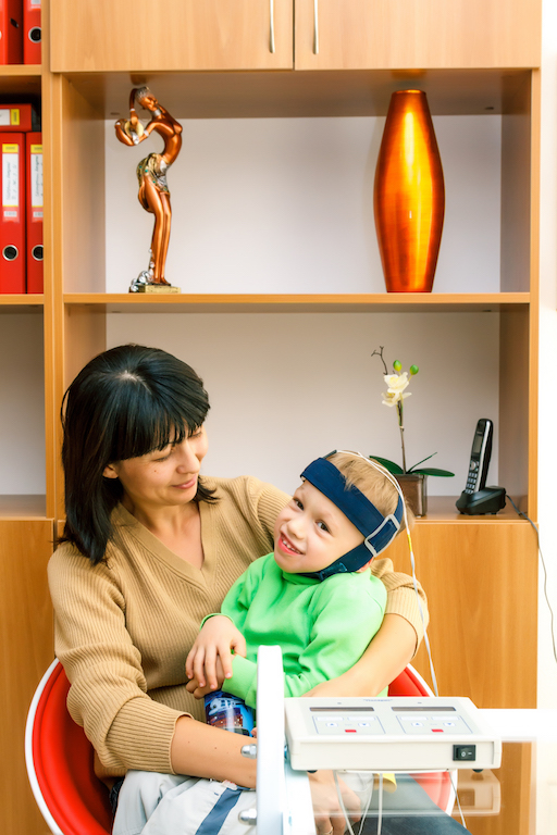 Transcranial direct current stimulation for children